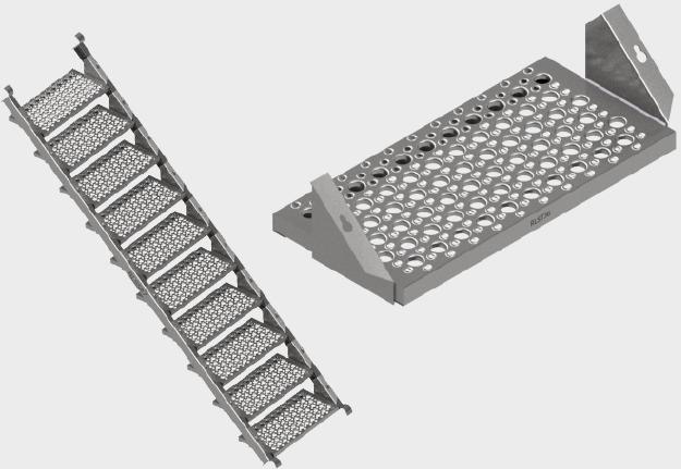 Aluminium Stair Stringer and Stair Tread